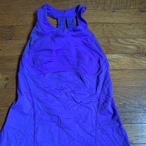 Purple lululemon tank. Built in bra, like new.